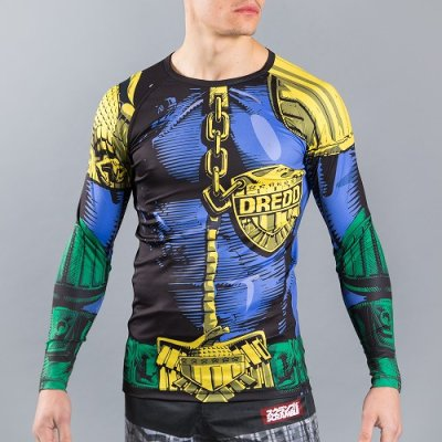 Photo1: Scramble Rash Guard SCRAMBLE X JUDGE DREDD THE LAW Long Sleeve