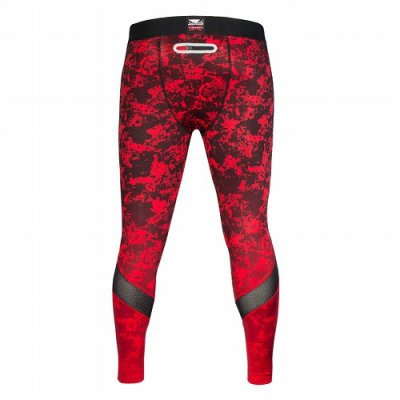 Photo3: BAD BOY Compression Spats X-TRAIN Red/Black