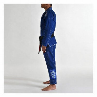 Photo3: Grips Jiu-jitsu Gi ARMADURA Blue