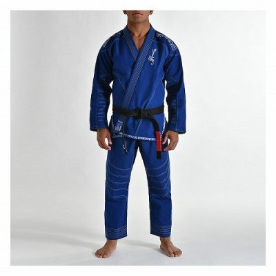 Photo1: Grips Jiu-jitsu Gi ARMADURA Blue