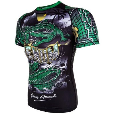 Photo3: VENUM Rashguard CROCODILE Short Sleeve Black