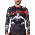 FUSION Rash Guard Blood Sport Long Sleeve Black