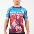 FUSION Rash Guard Masters of the Universe Beast Man Short Sleeve Light Blue / Red