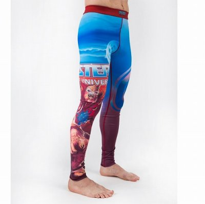 Photo1: FUSION Long Spats Masters of the Universe Beast Man Light Blue/Red