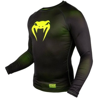 Photo2: VENUM Compression Shirts CONTENDER 3.0 Long Sleeve Black/Fluorescent Yellow