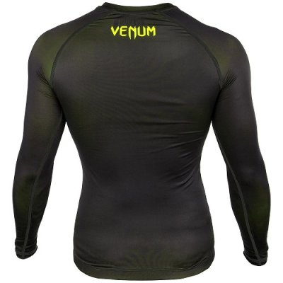 Photo3: VENUM Compression Shirts CONTENDER 3.0 Long Sleeve Black/Fluorescent Yellow