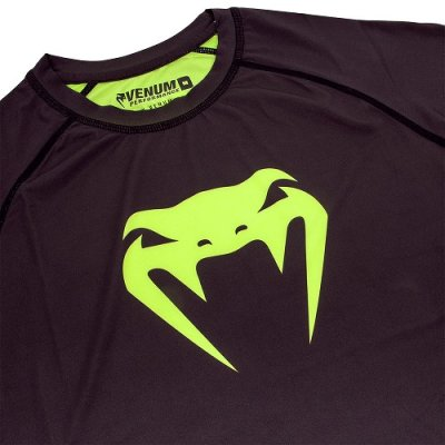 Photo4: VENUM Compression Shirts CONTENDER 3.0 Long Sleeve Black/Fluorescent Yellow