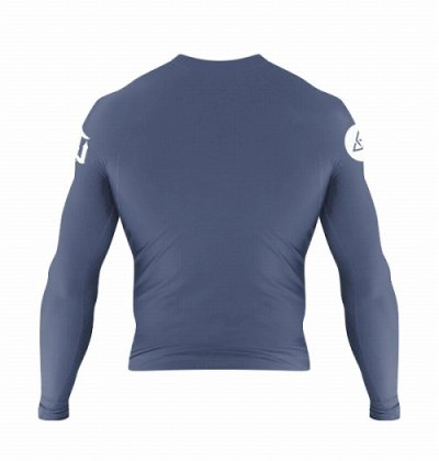 Photo2: WAR TRIBE Rashguard S.D.U. Long Sleeve Blue