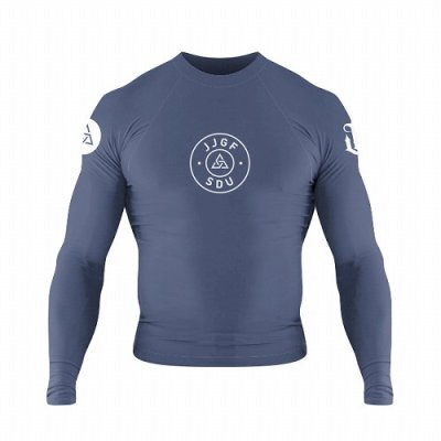 Photo1: WAR TRIBE Rashguard S.D.U. Long Sleeve Blue