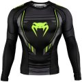 VENUM Rash Guard TECHNICAL 2.0 Long Sleeve Black /Yellow
