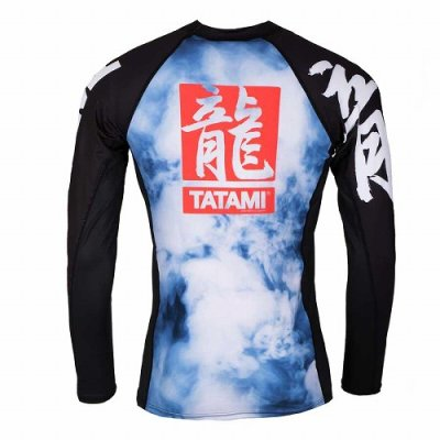 Photo2: Tatami Rash Guard ORIENTAL DRAGON Long Sleeve Black