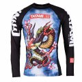 Tatami Rash Guard ORIENTAL DRAGON Long Sleeve Black