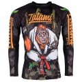 Tatami RashGuard HANG LOOSE ORANGUTANG Long Sleeve Black