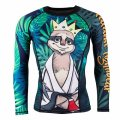 Tatami Rash Guard KING SLOTH Long Sleeve Black