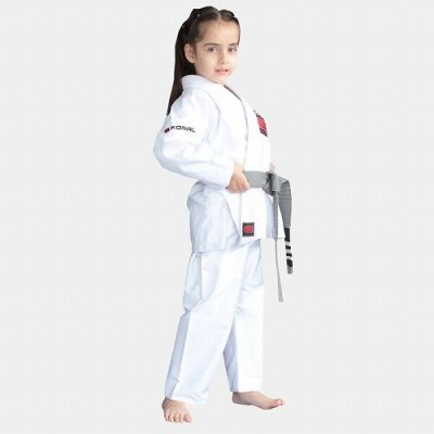 Photo3: KORAL KIDS Jiu Jitsu Gi REINFORCED White