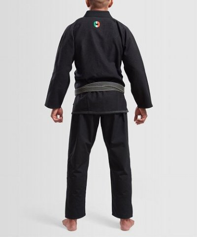 Photo3: Grips Jiu-jitsu Gi THE ITALIAN Black
