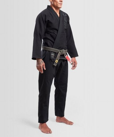 Photo2: Grips Jiu-jitsu Gi THE ITALIAN Black