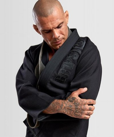 Photo1: Grips Jiu-jitsu Gi THE ITALIAN Black