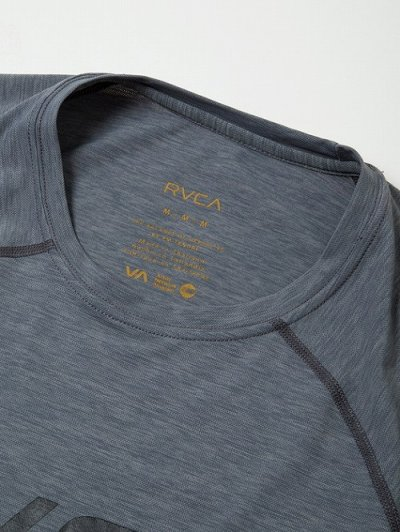 Photo4: RVCA Rashguard Short Sleeve MICRO MESH SS TEE Gray