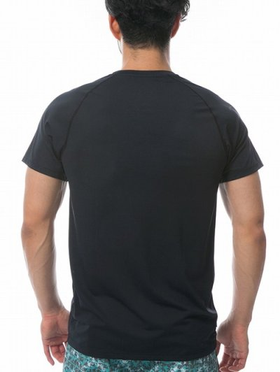 Photo3: RVCA Rashguard Short Sleeve MICRO MESH SS TEE Black