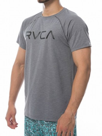 Photo2: RVCA Rashguard Short Sleeve MICRO MESH SS TEE Gray