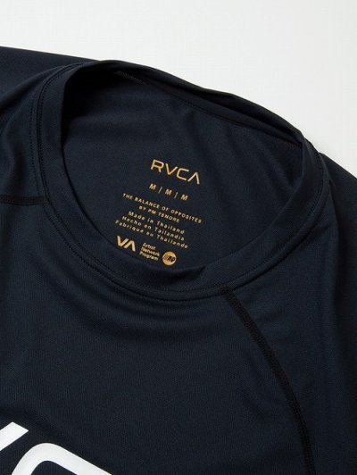 Photo4: RVCA Rashguard Short Sleeve MICRO MESH SS TEE Black