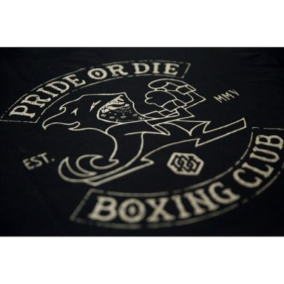 Photo2: PRIDE or DIE T-Shirt BOXING CLUB Black