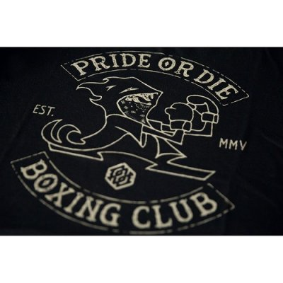 Photo3: PRIDE or DIE T-Shirt BOXING CLUB Black