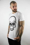 KVRA T-Shirt FULL SKULL White
