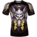 VENUM Rash Guard VIKING 2.0 Short Sleeve Black/Yellow