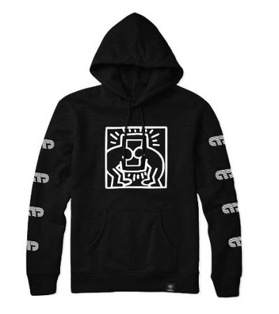Photo1: MOYA BRAND x KEITH HARING Hoodie Parka Black