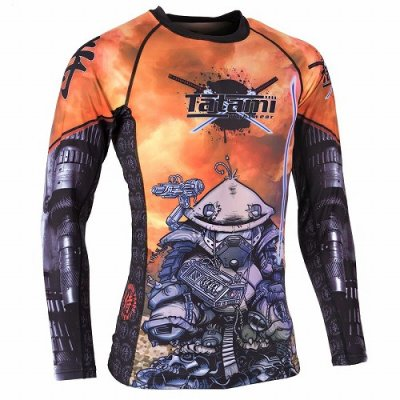 Photo2: Tatami Rash Guard CYBER SAMURAI PANDA Long Sleeve