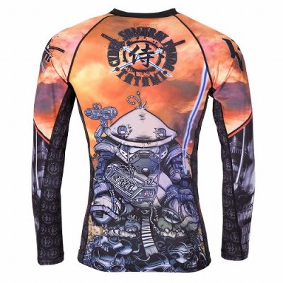 Photo3: Tatami Rash Guard CYBER SAMURAI PANDA Long Sleeve