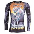 Tatami Rash Guard CYBER HONEY BADGER Long Sleeve Black