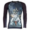 Tatami Rash Guard CYBER GENTLE PANDA Long Sleeve Black
