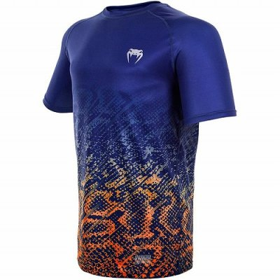 Photo2: VENUM Dry Fit T-Shirt TROPICAL Blue/Orange