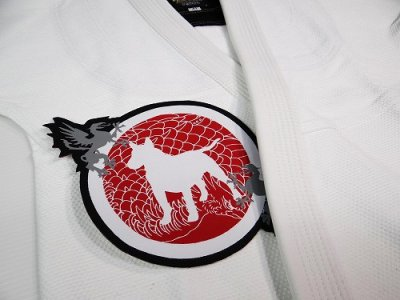 Photo2: BULLTERRIER Embroidery patch Die cut Houou