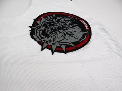 Photo2: BLACK BULL Embroidery Patch Circle Black