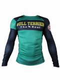 BULL TERRIER Rashguard THE RANGER Long Sleeve Green
