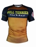 BULL TERRIER Rashguard Short Sleeve THE RANGER Brown