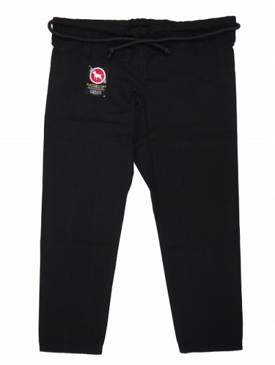 Photo1: BULLTERRIER Jiu Jitsu Gi Pants Wide Type Black