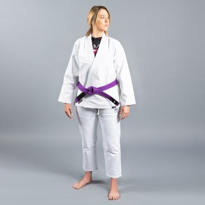 "Photo1: Scramble Lady`s Jiu Jitsu Gi ""Standard Issue - Semi Custom"" V2 White"