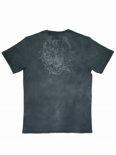 Photo2: BLACK BULL T-Shirts TIE DYE LOGO Light Gray