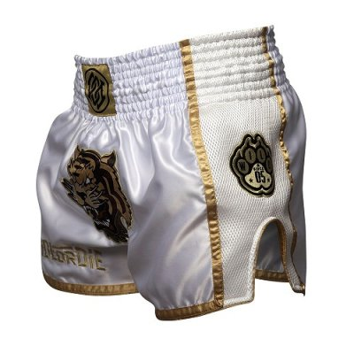 Photo4: PRIDE or DIE Muay Thai Shorts UNLEASHED White