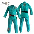 FLUORY Lady`s Jiu Jitsu Gi KOI FISH Green
