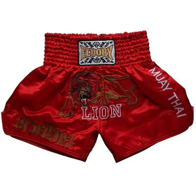 Photo1: FLUORY Muay Thai Shorts MTSF01 Red