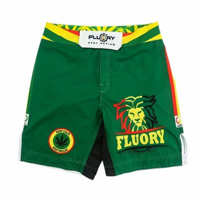 Photo1: FLUORY Fight Shorts MMAF05 Green