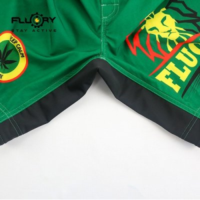 Photo3: FLUORY Fight Shorts MMAF05 Green