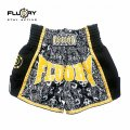 FLUORY Muay Thai Shorts MTSF29 Black