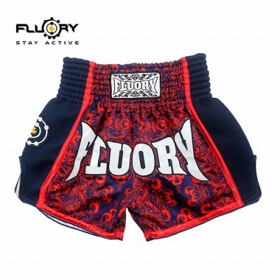 Photo1: FLUORY Muay Thai Shorts MTSF29 Red